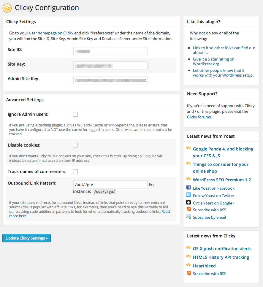 Download Clicky by Yoast 1.6 – Free WordPress Plugin