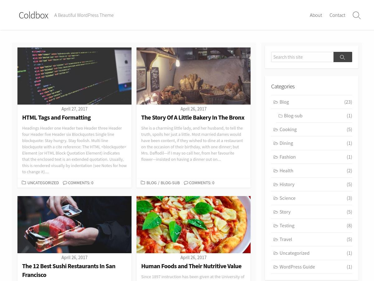 Download Coldbox 1.7.0 – Free WordPress Theme