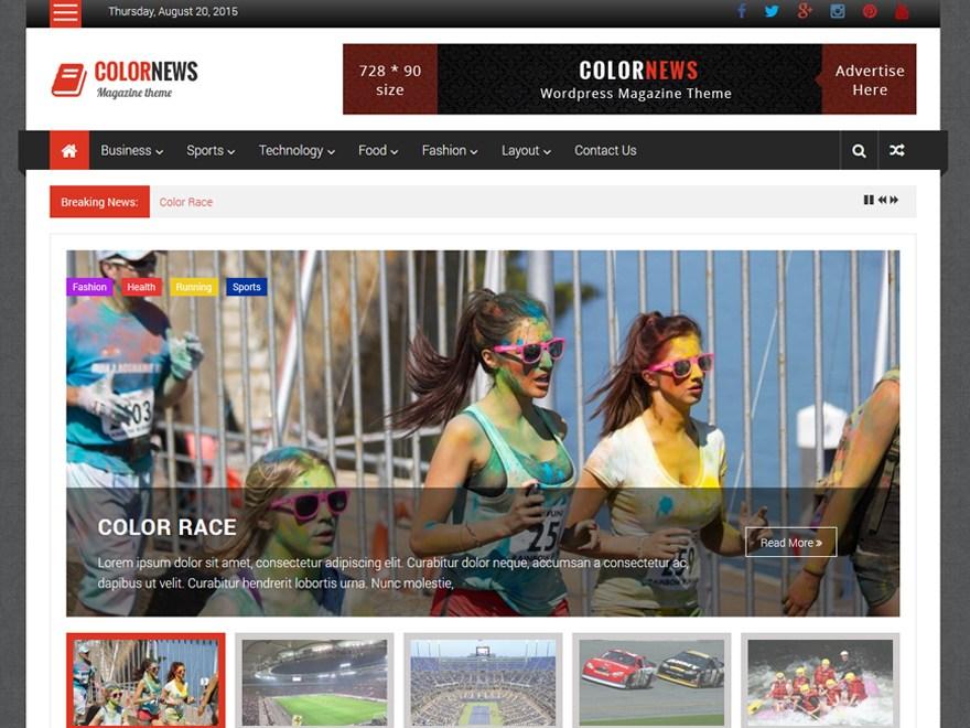 Download ColorNews 1.1.4 – Free WordPress Theme