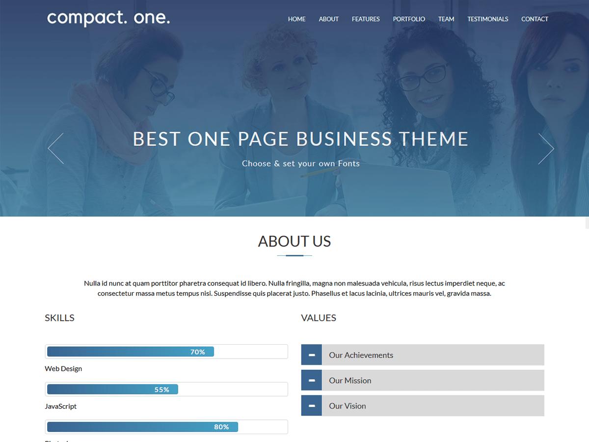 Download Compact One 1.8 – Free WordPress Theme
