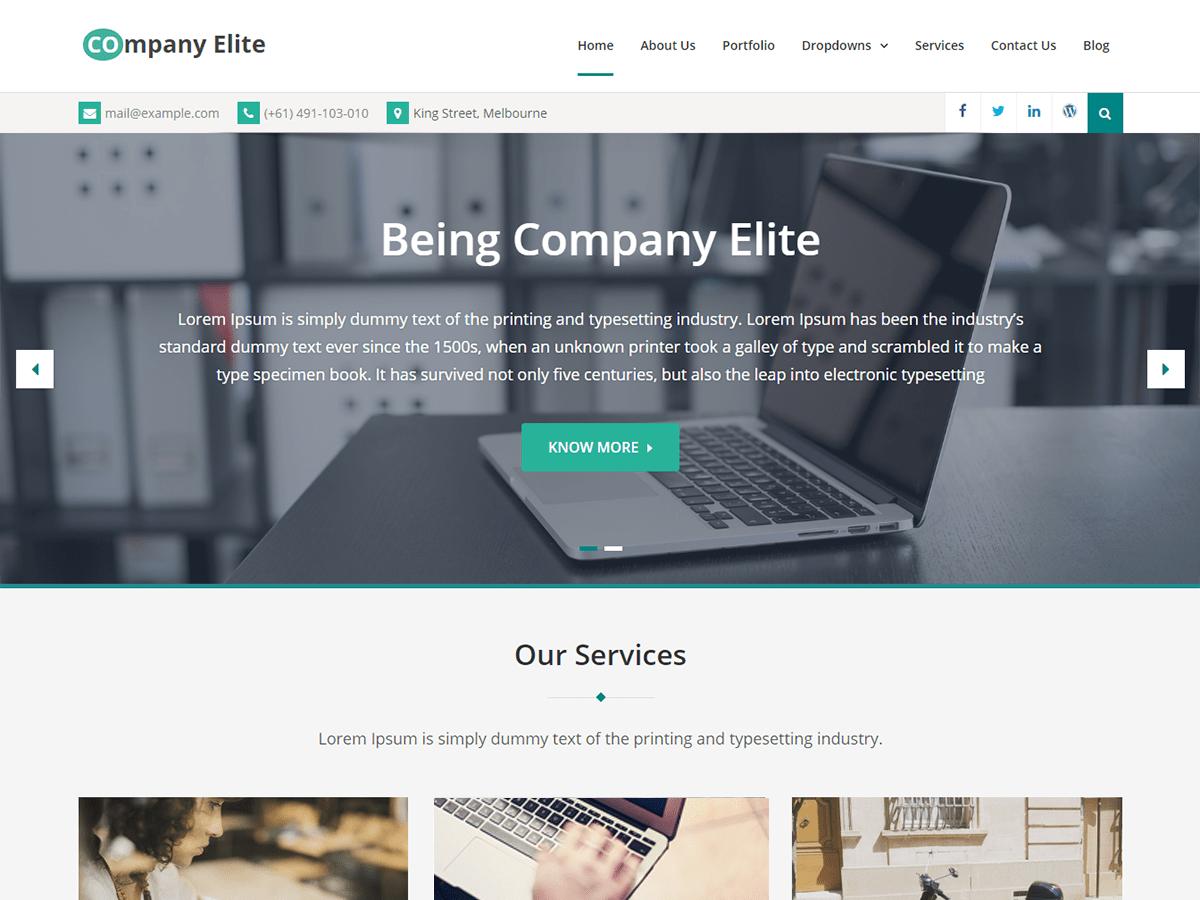 Download Company Elite 1.0.9 – Free WordPress Theme