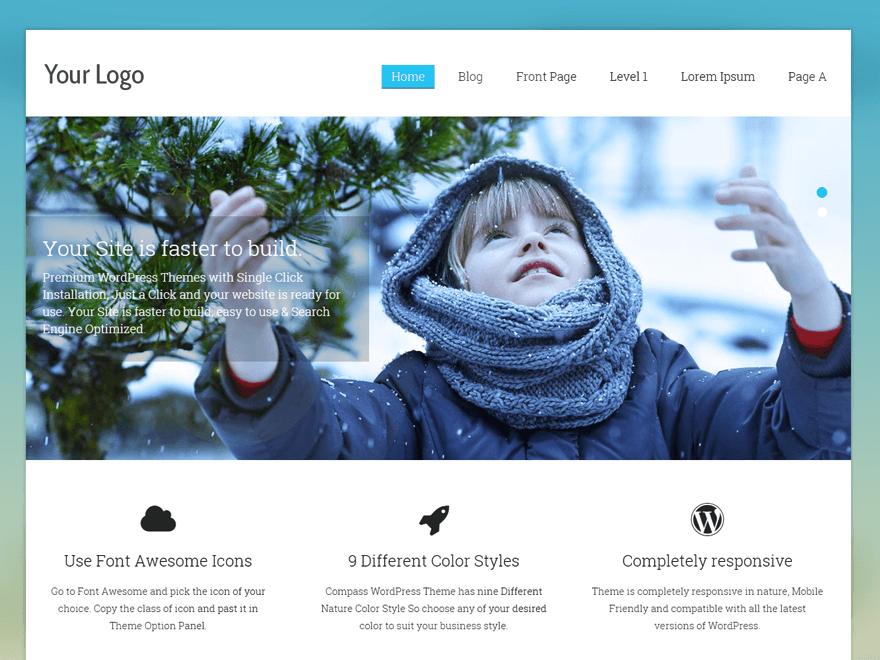 Download Compass 1.1.3 – Free WordPress Theme