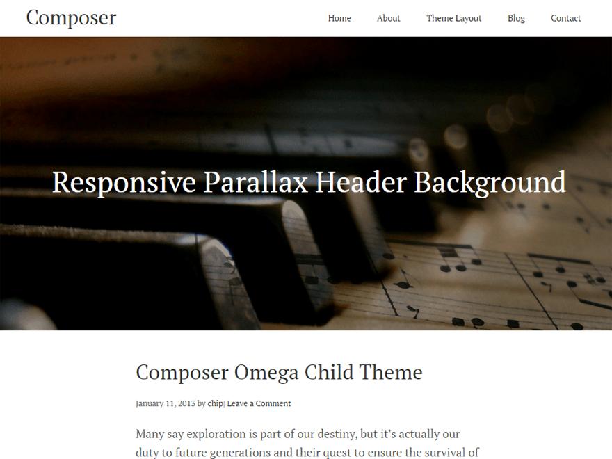 Download Composer 0.1.6 – Free WordPress Theme