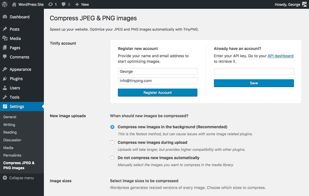 Download Compress JPEG & PNG images 3.0.1 – Free WordPress Plugin