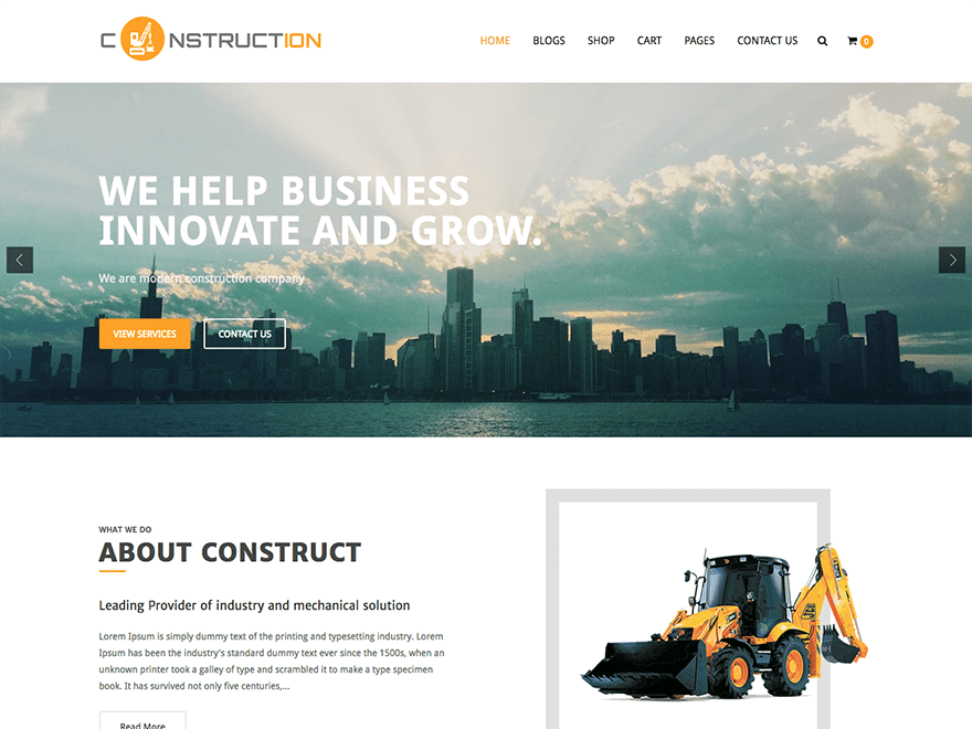Download Construction Lite 1.1.7 – Free WordPress Theme