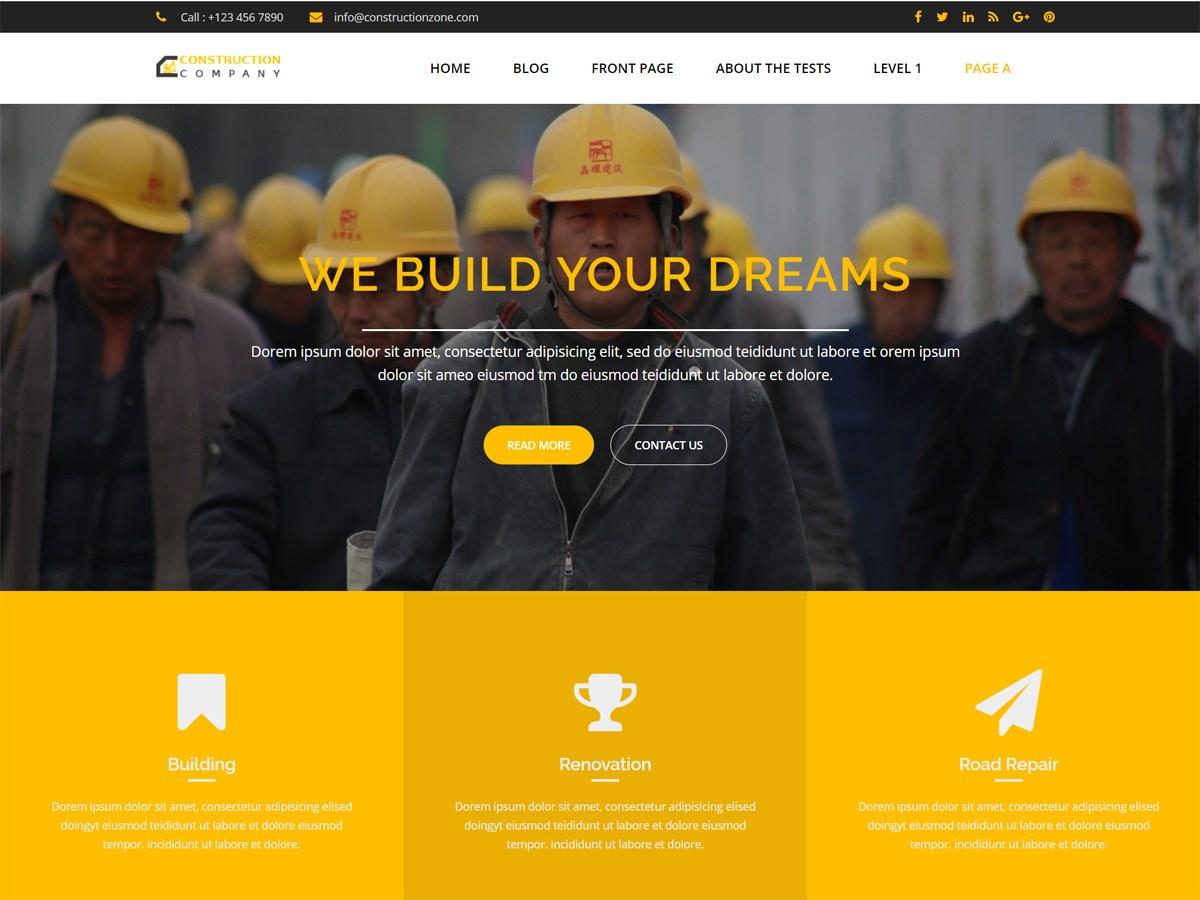 Download Construction Zone 1.1.0 – Free WordPress Theme