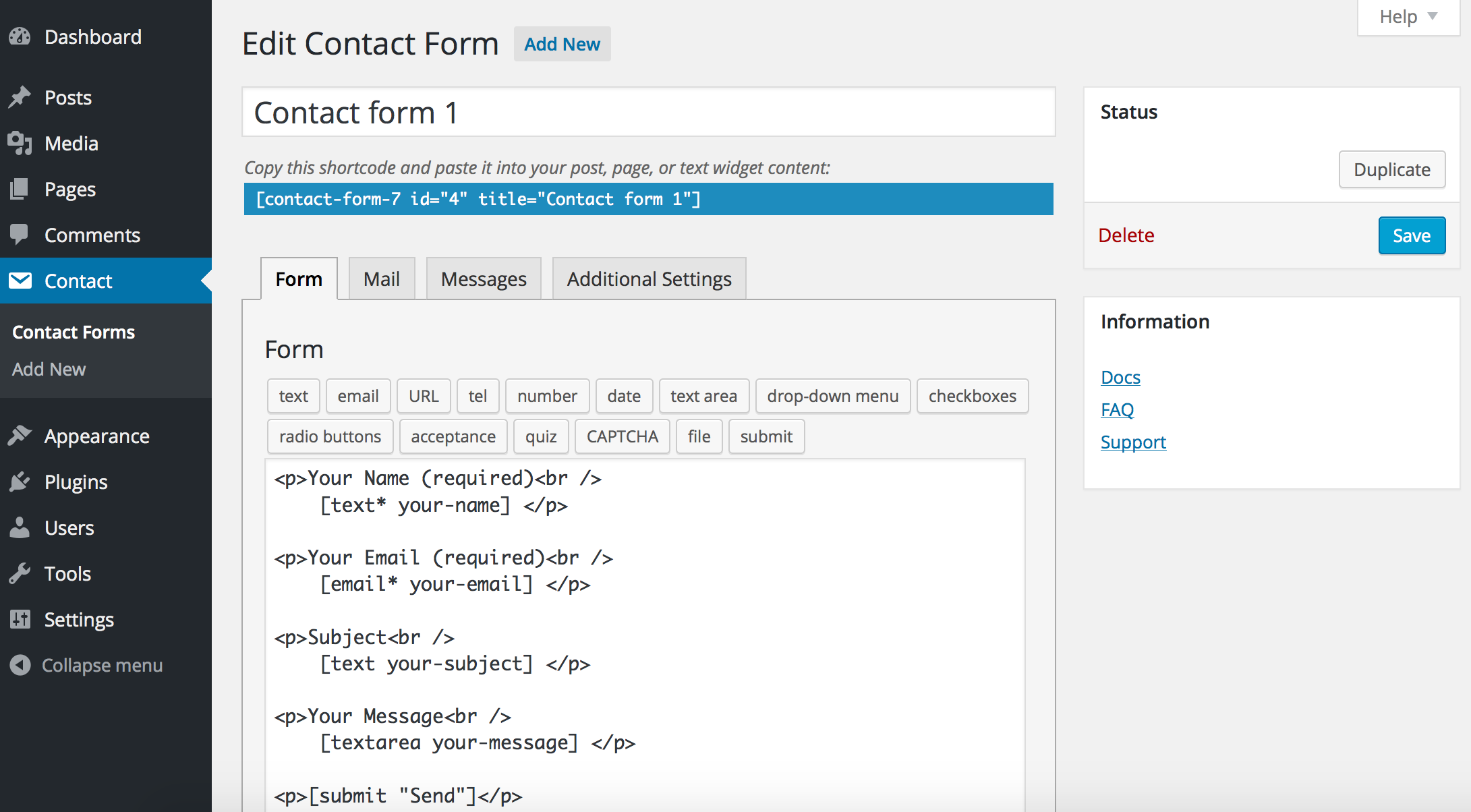 Download Contact Form 7 5.0.4 – Free WordPress Plugin