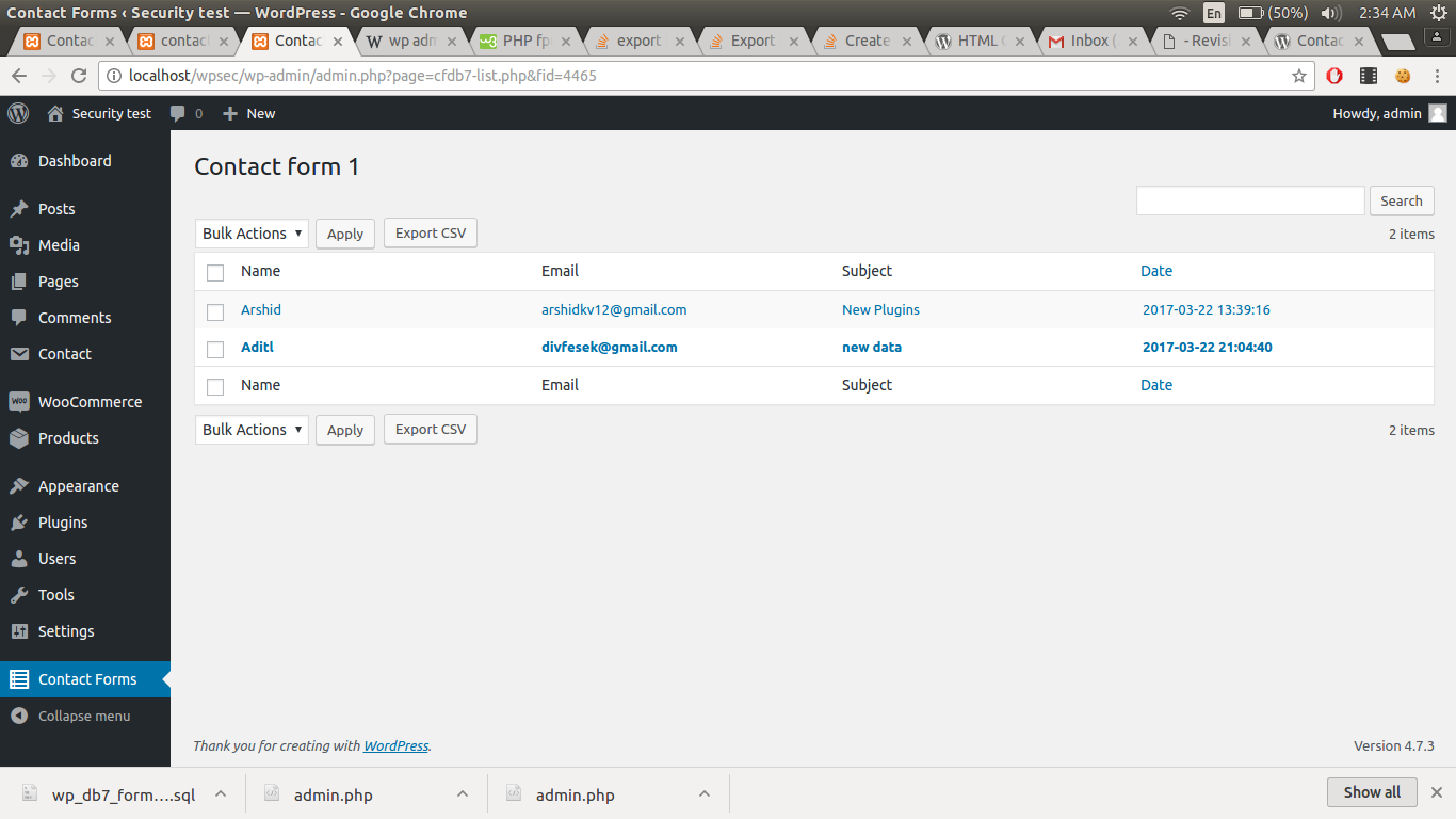 Download Contact Form 7 Database Addon – CFDB7 1.2.4 – Free WordPress Plugin