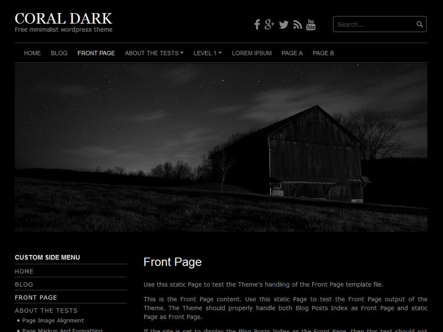 Download Coral Dark 1.1.0 – Free WordPress Theme