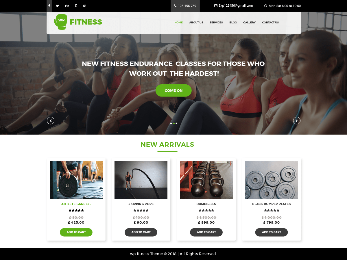 Download Core Fitness 0.3 – Free WordPress Theme
