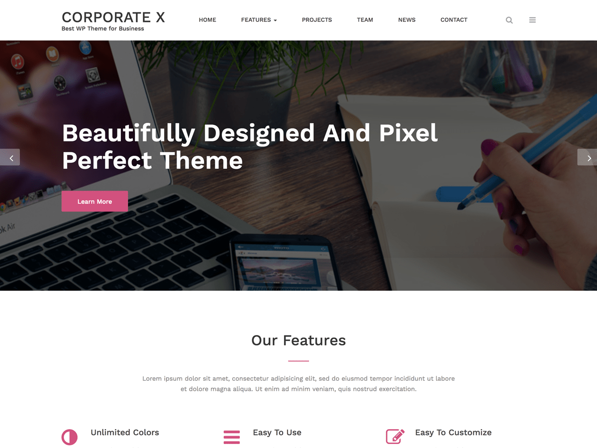 Download Corporate X 1.1.5 – Free WordPress Theme