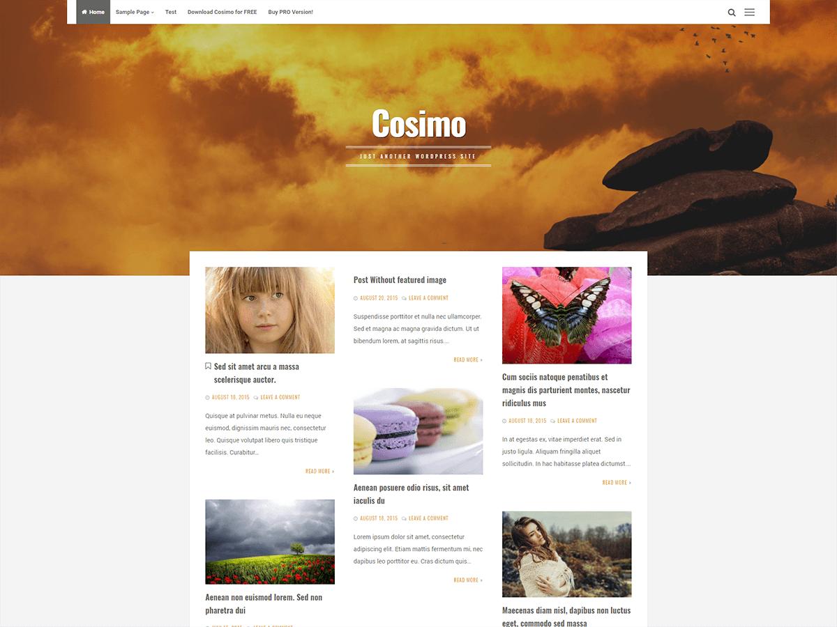Download Cosimo 1.4.0 – Free WordPress Theme