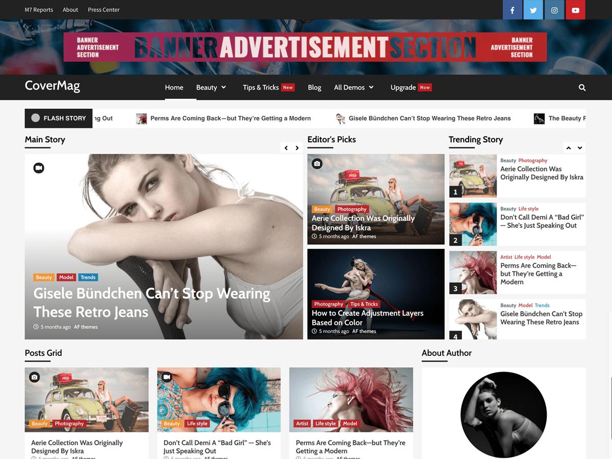 Download CoverMag 1.0.4 – Free WordPress Theme
