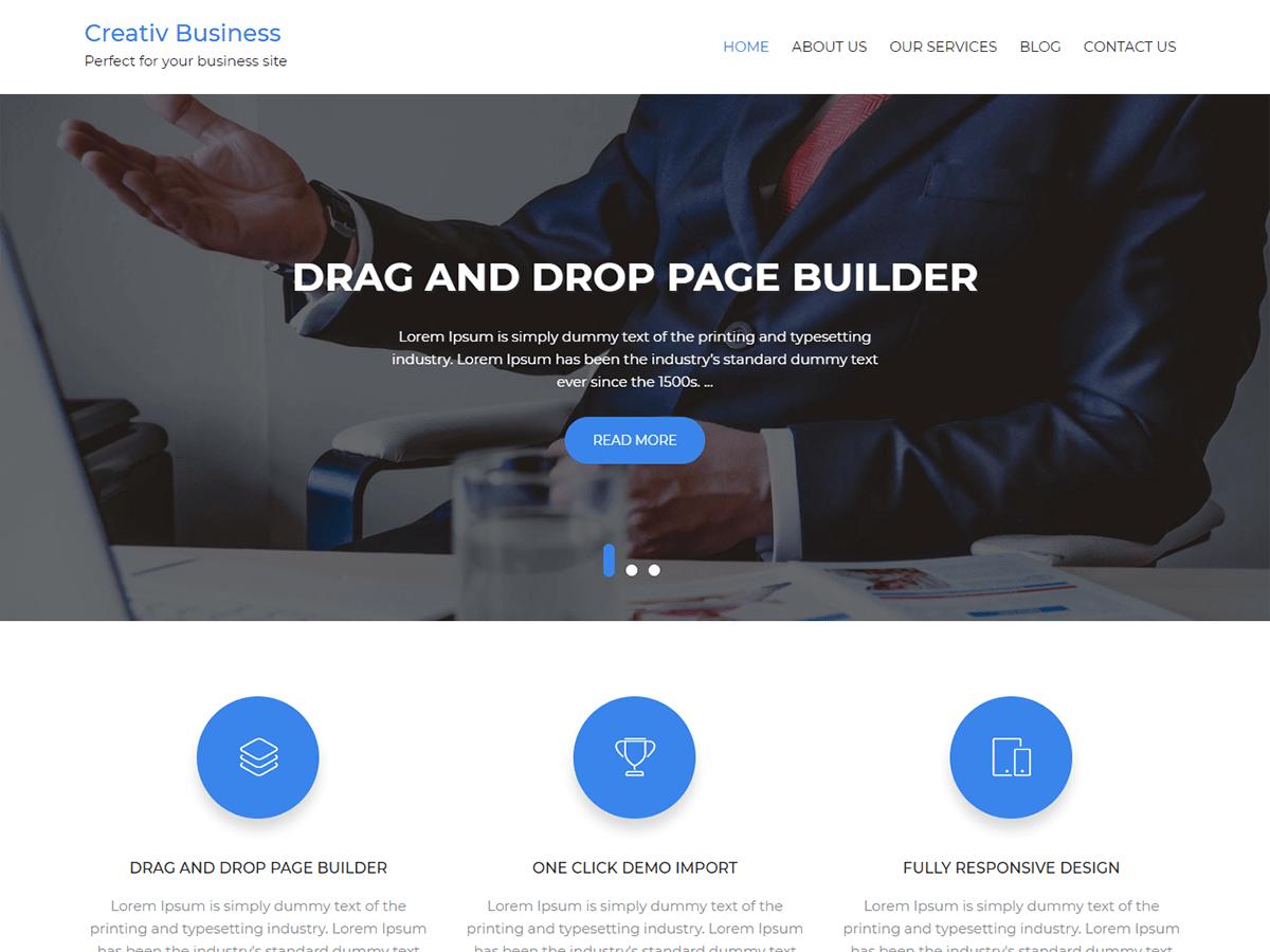 Download Creativ Business 2.2 – Free WordPress Theme