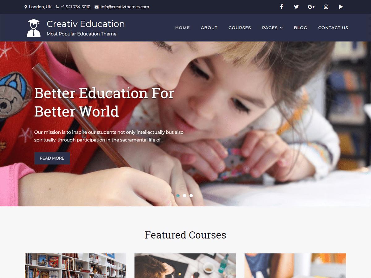 Download Creativ Education 1.8 – Free WordPress Theme