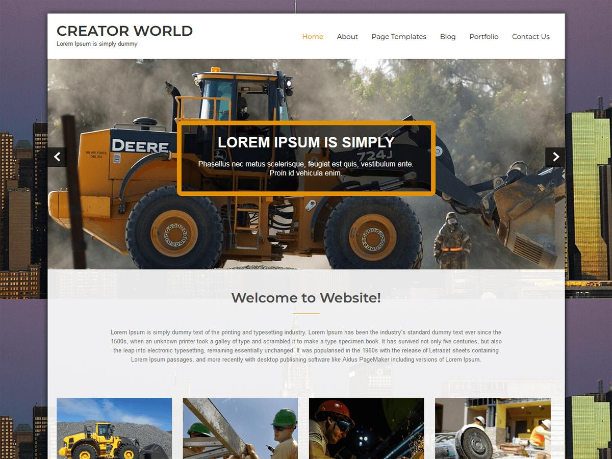 Download Creator World 1.5.0 – Free WordPress Theme