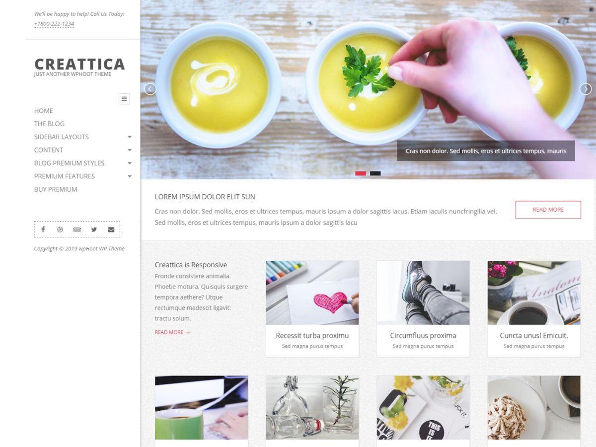 Download Creattica 1.6.7 – Free WordPress Theme