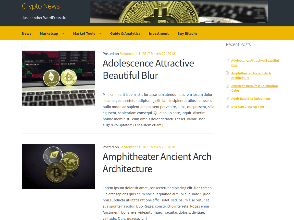 Download Crypto News 1.1.1 – Free WordPress Theme
