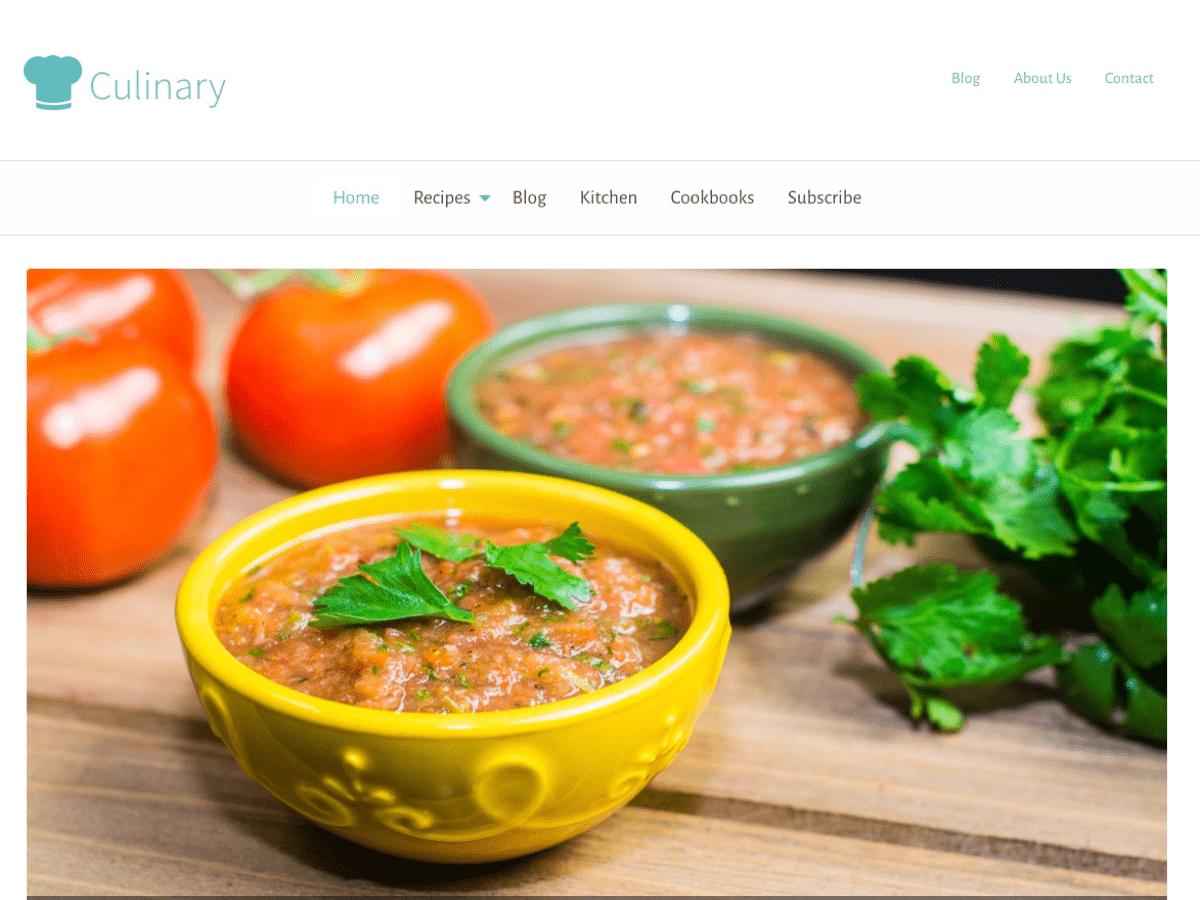 Download Culinary 1.3 – Free WordPress Theme