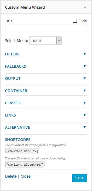 Download Custom Menu Wizard Widget 3.3.1 – Free WordPress Plugin