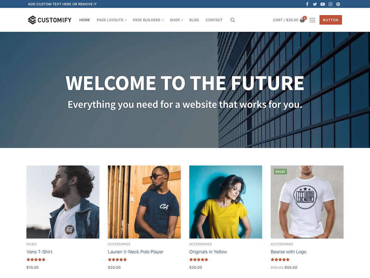 Download Customify 0.2.3 – Free WordPress Theme
