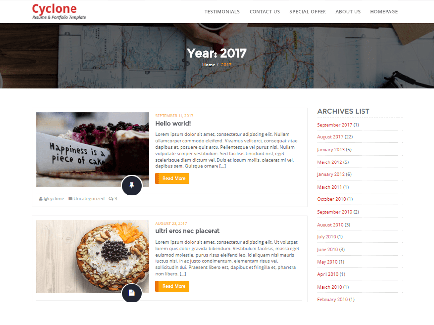 Download Cyclone Blog 1.1 – Free WordPress Theme