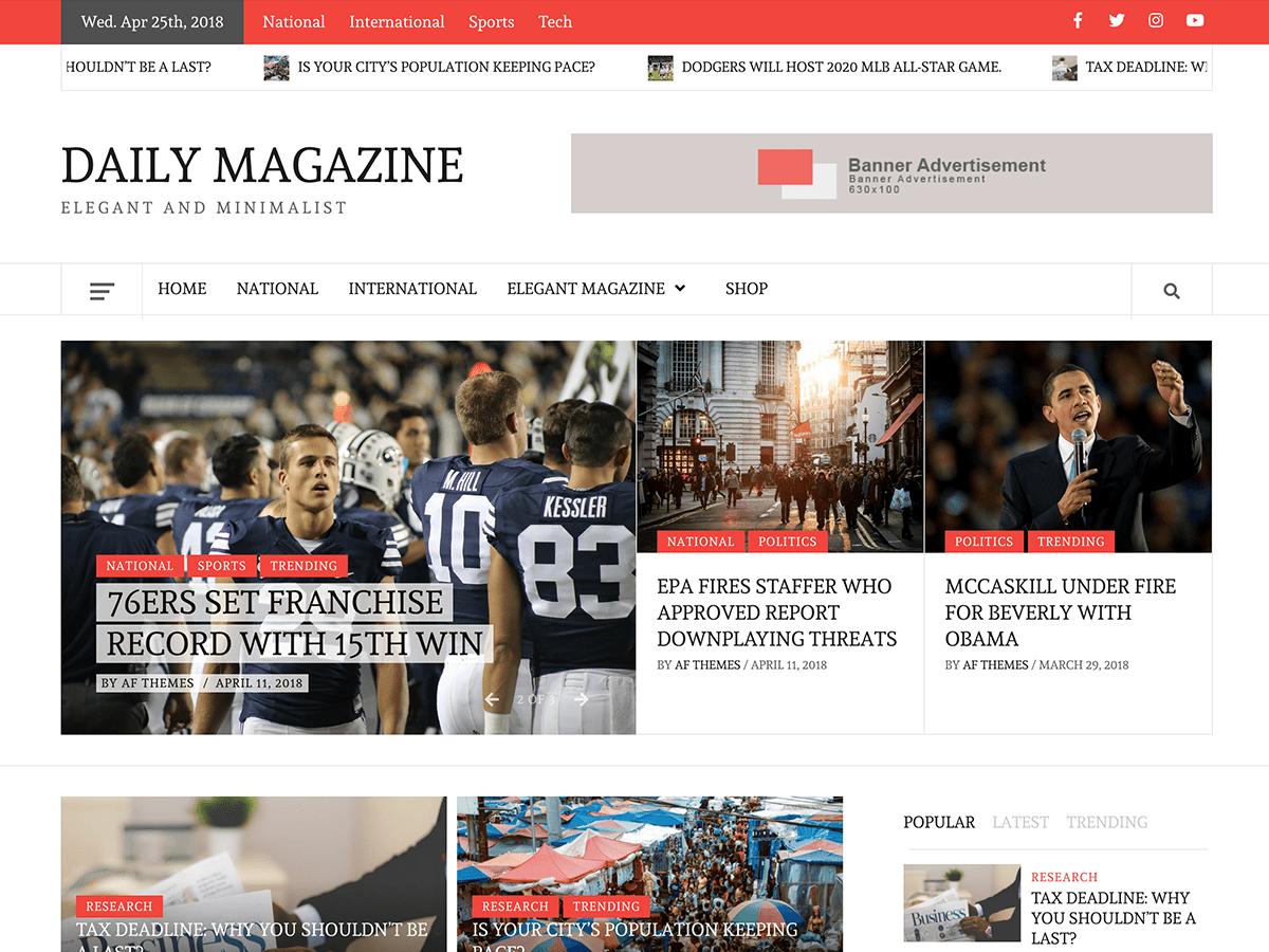 Download Daily Magazine 1.0.2 – Free WordPress Theme