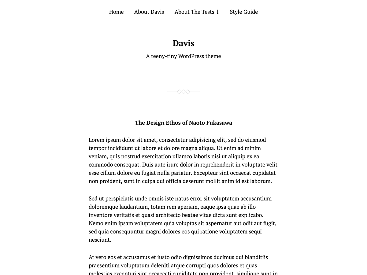 Download Davis 1.13 – Free WordPress Theme