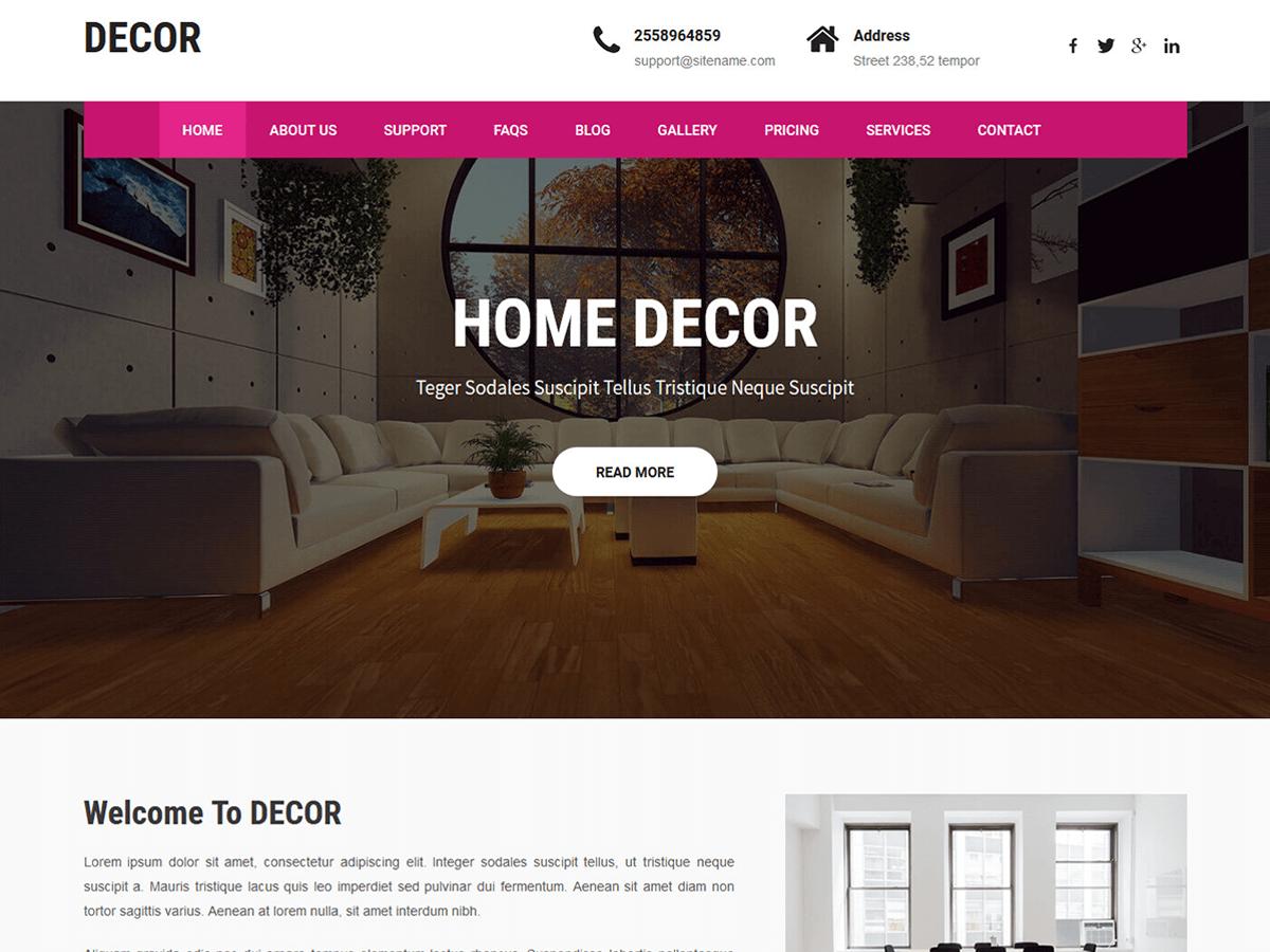 Download Decor Lite 1.1 – Free WordPress Theme