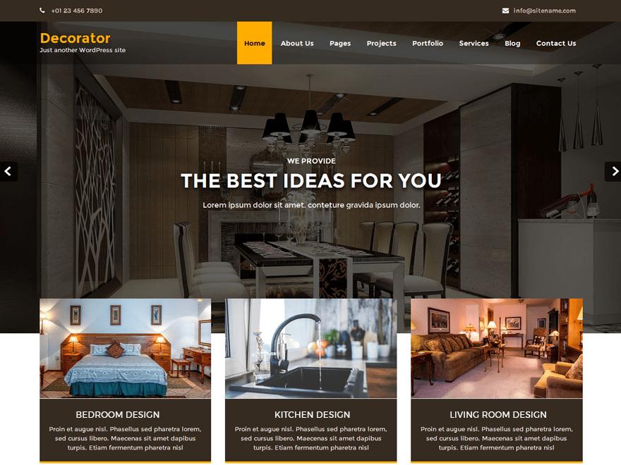 Download Decorator 1.1.1 – Free WordPress Theme