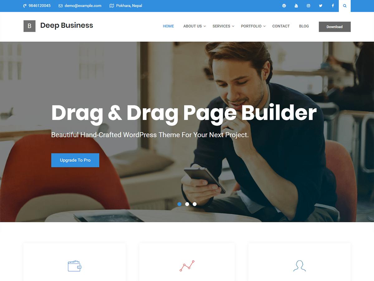 Download Deep Business 1.0.0 – Free WordPress Theme