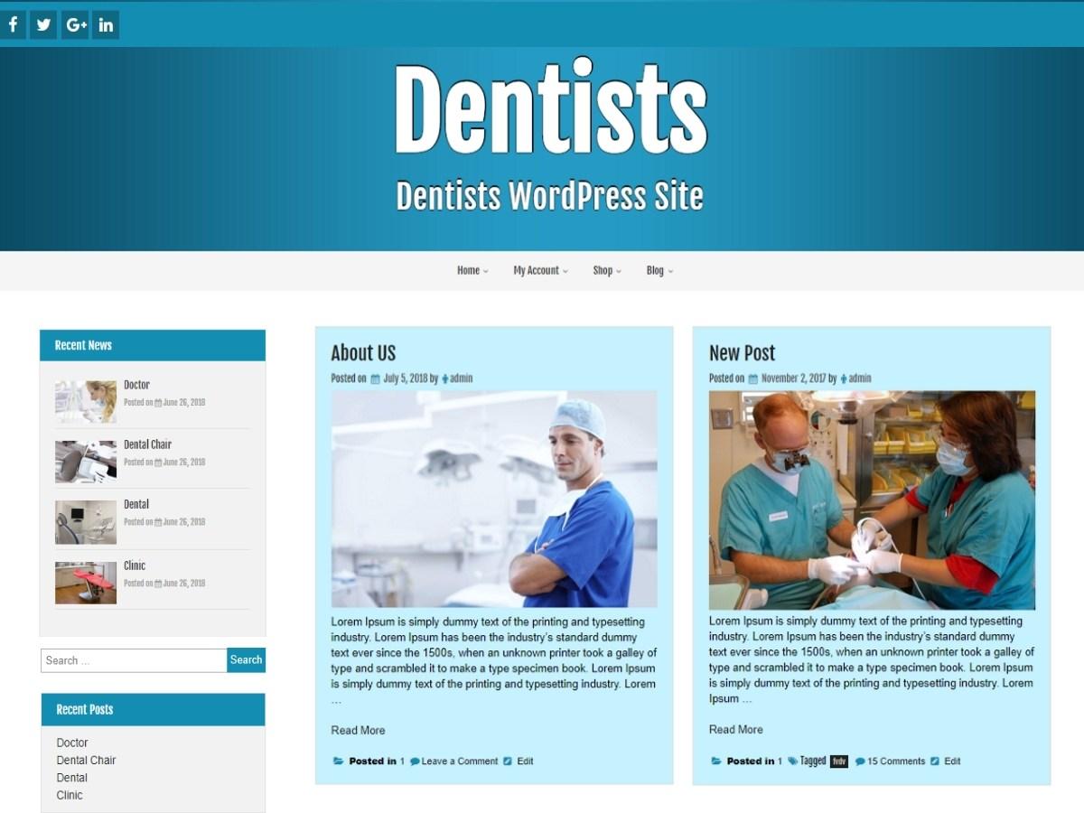 Download Dentists 1.1.2 – Free WordPress Theme
