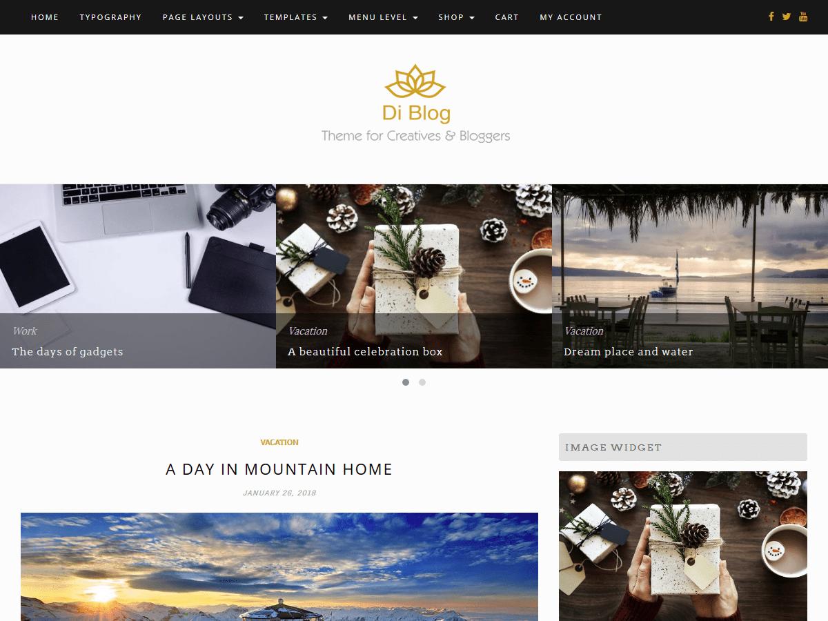 Download Di Blog 1.2.5 – Free WordPress Theme
