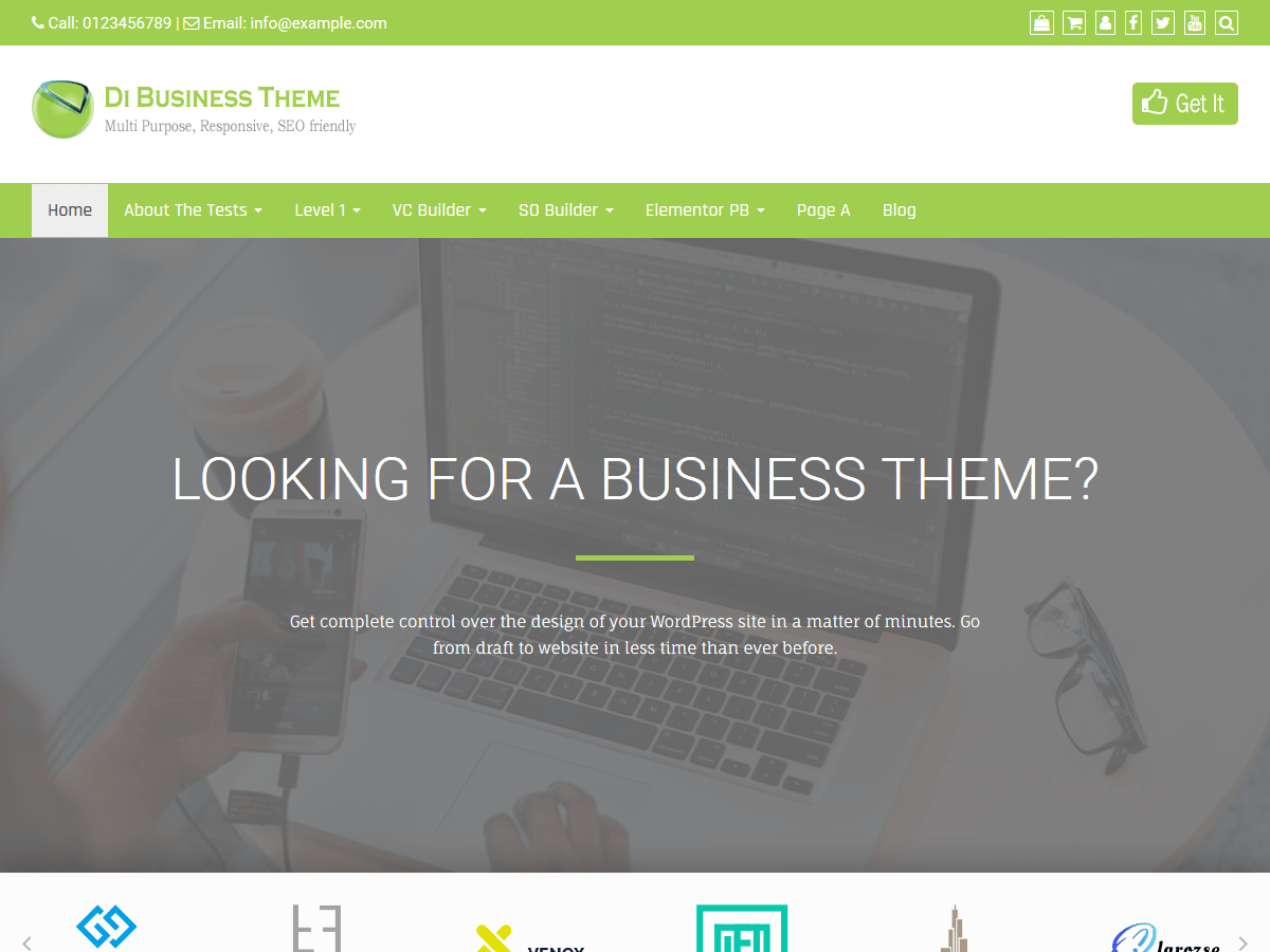 Download Di Business 1.3.0 – Free WordPress Theme