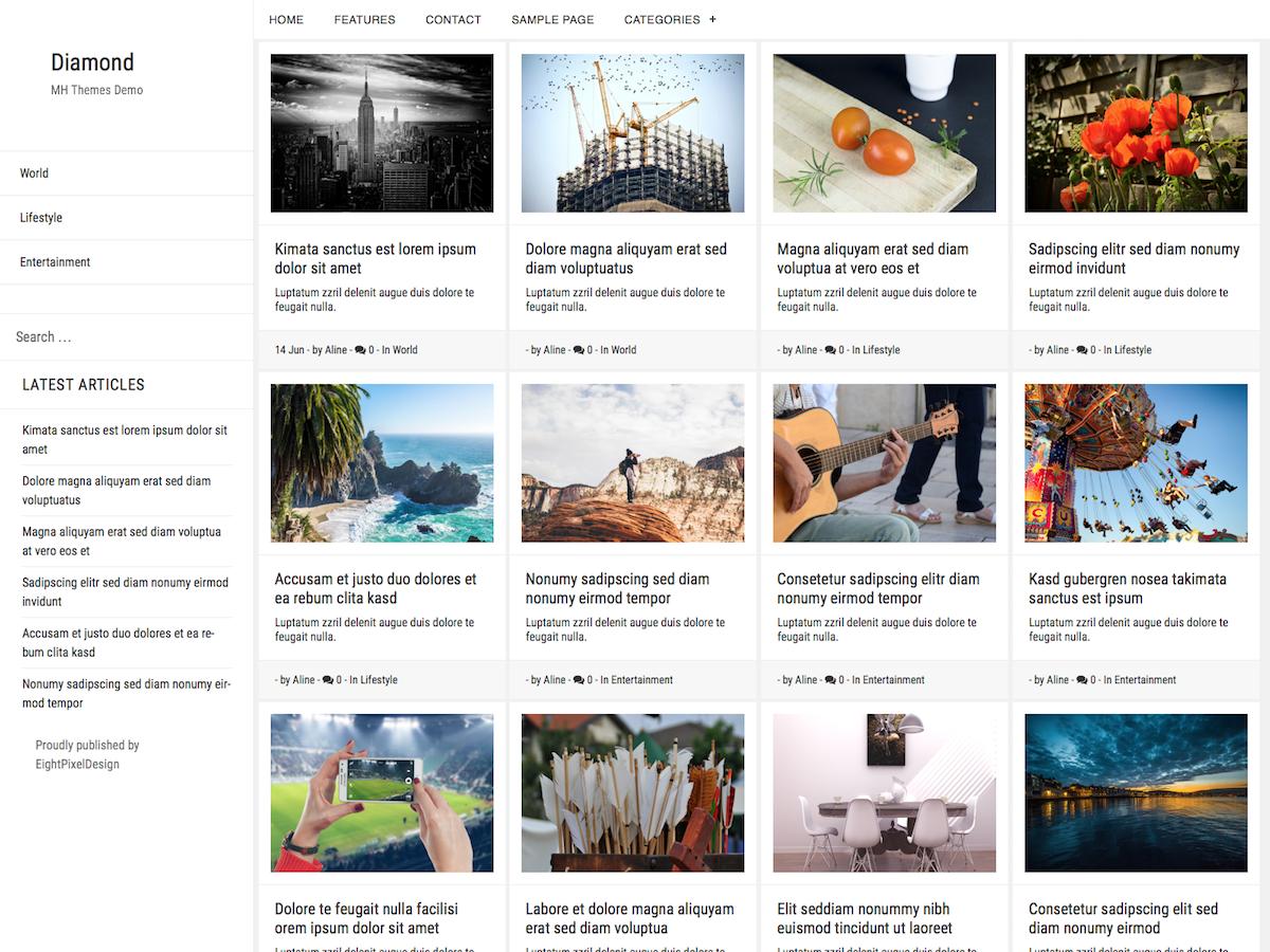Download Diamond 1.2.1 – Free WordPress Theme