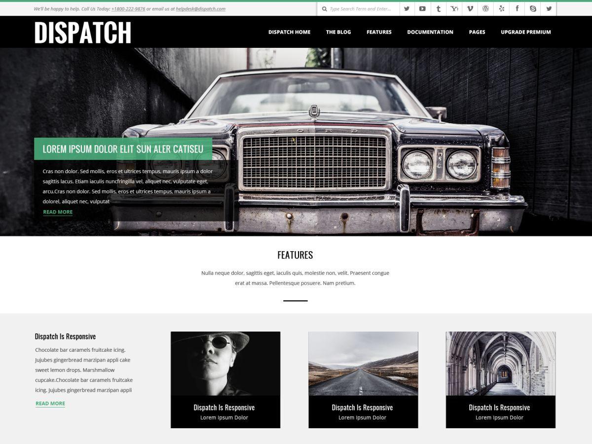 Download Dispatch 4.6.7 – Free WordPress Theme
