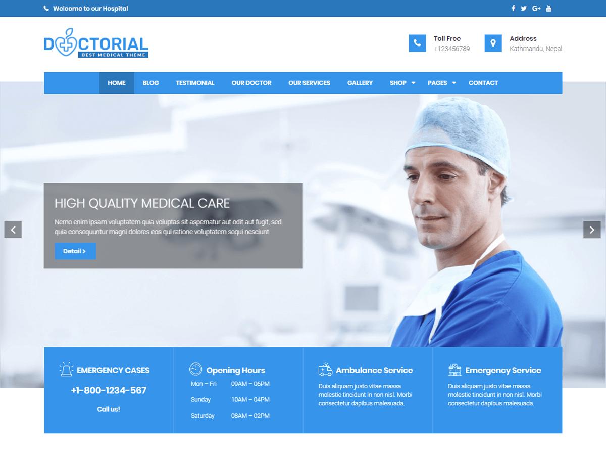 Download Doctorial 1.0.21 – Free WordPress Theme