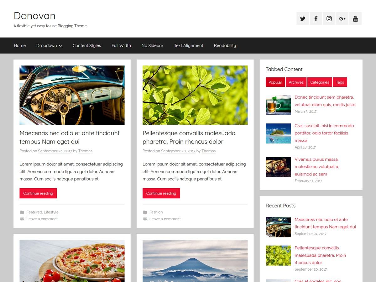 Download Donovan 1.2.1 – Free WordPress Theme