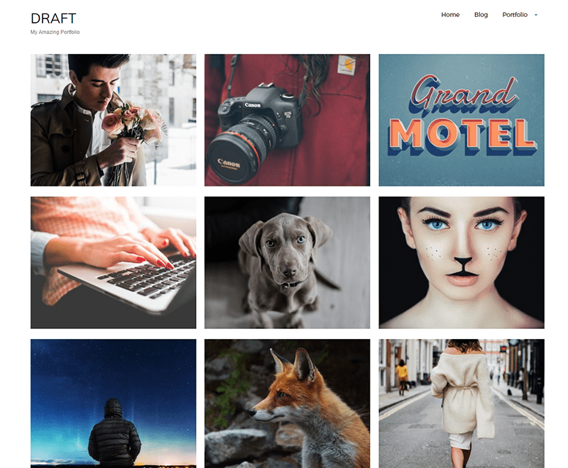 Download Draft Portfolio 1.6.2 – Free WordPress Theme