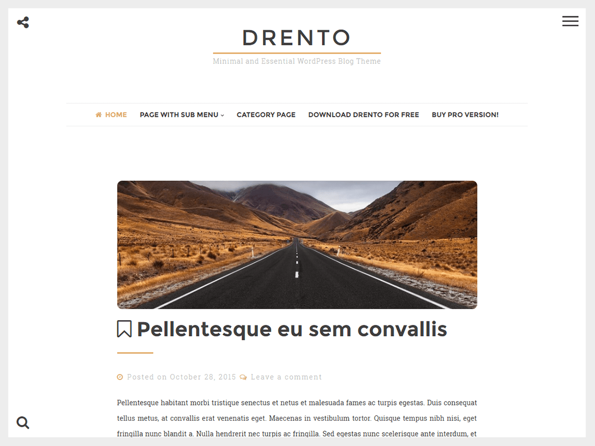 Download Drento 1.3.7 – Free WordPress Theme