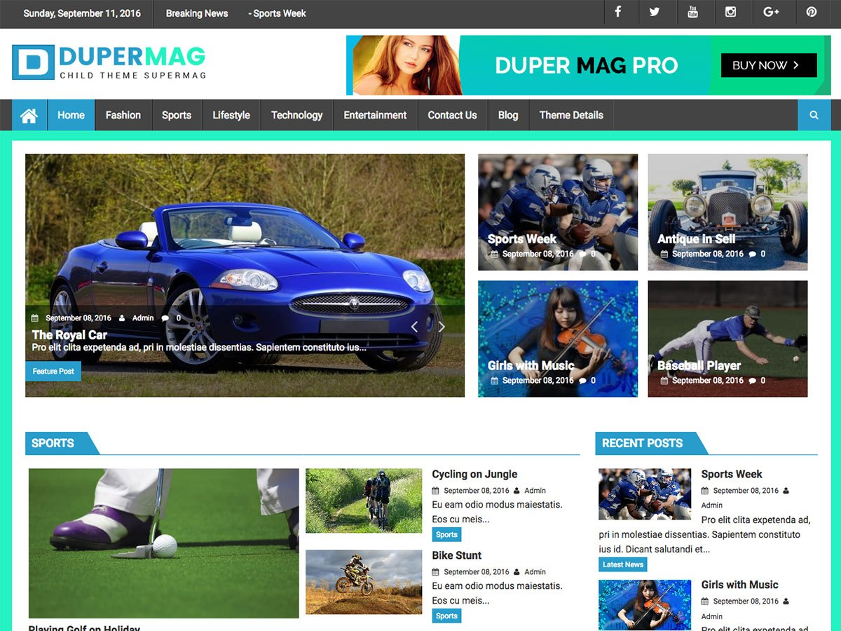 Download DuperMag 1.2.2 – Free WordPress Theme