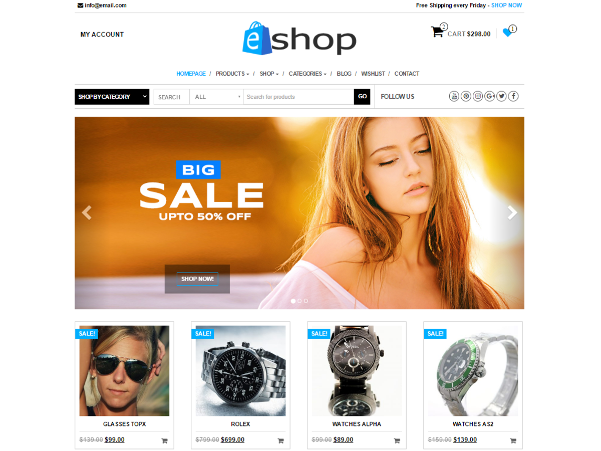 Download E-Shop 1.0.5 – Free WordPress Theme
