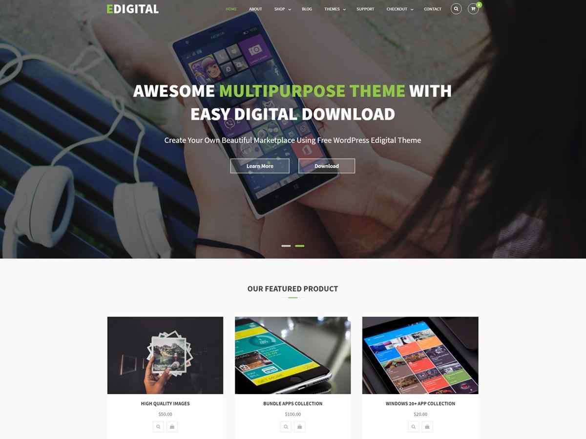 Download EDigital 1.1.5 – Free WordPress Theme