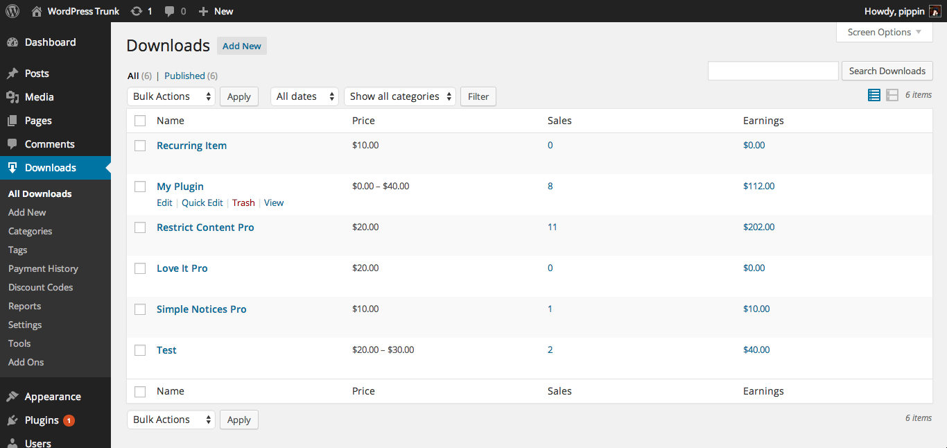 Download Easy Digital Downloads 2.9.8 – Free WordPress Plugin