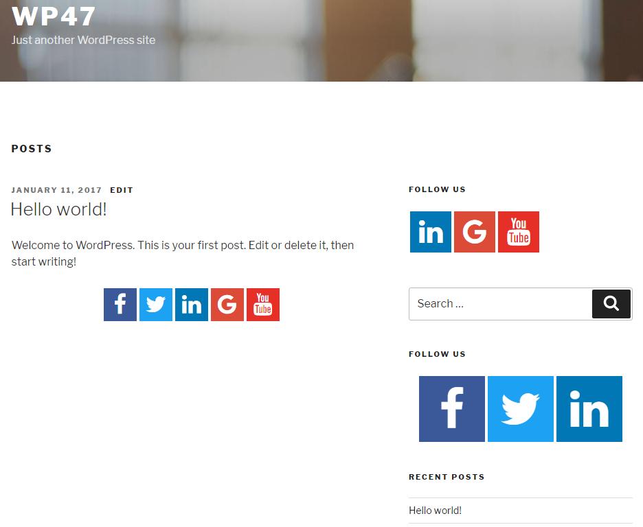 Download Easy Social Icons 3.0.5 – Free WordPress Plugin