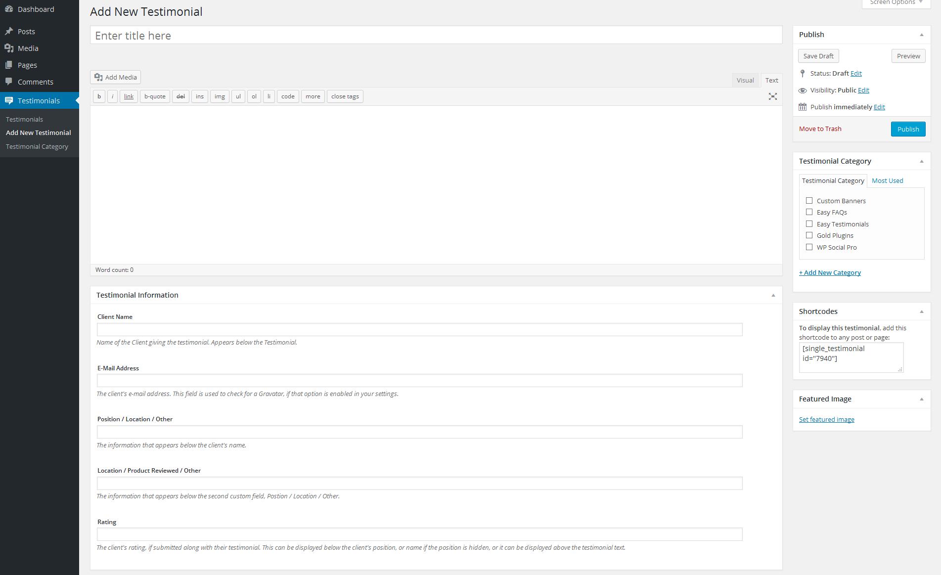 Download Easy Testimonials 3.2 – Free WordPress Plugin