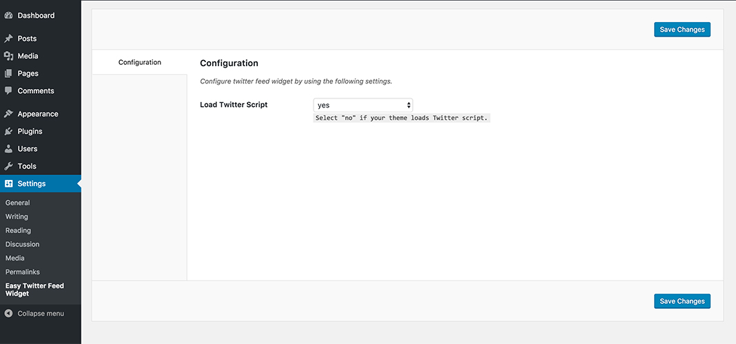 Download Easy Twitter Feed Widget Plugin 0.9 – Free WordPress Plugin