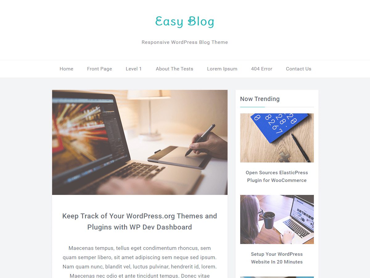 Download EasyBlog 1.1.1 – Free WordPress Theme