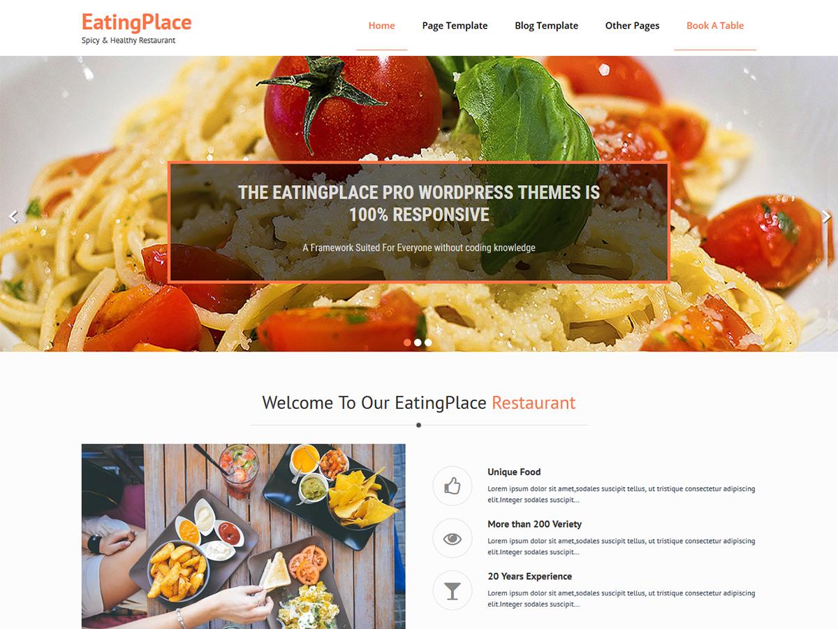 Download EatingPlace 0.8 – Free WordPress Theme