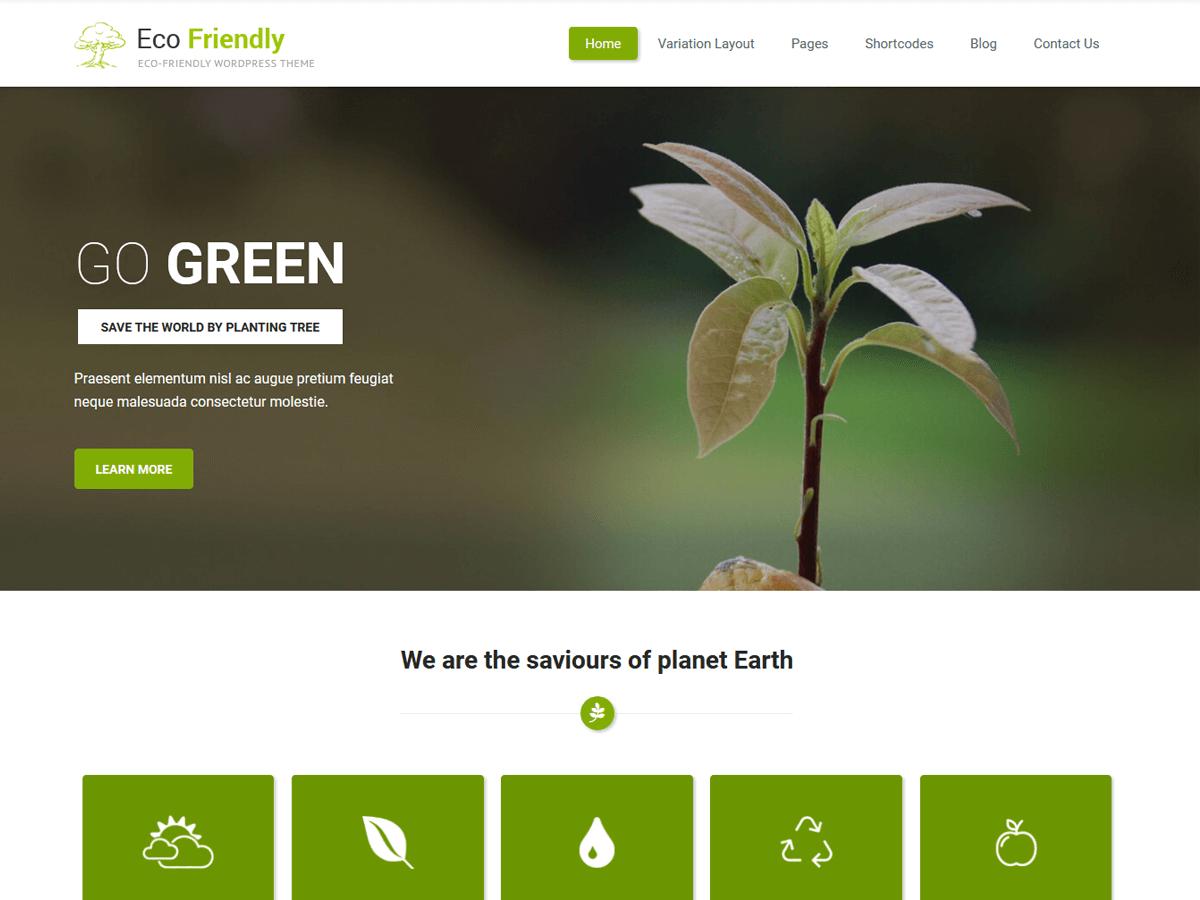 Download Eco Friendly Lite 1.5 – Free WordPress Theme
